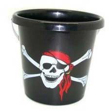 Black Plastic Pirate Bucket